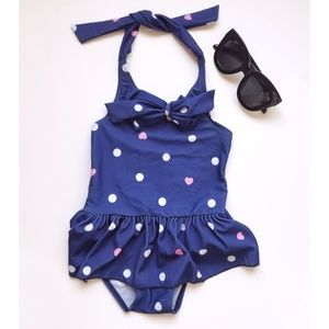 Other - Toddler Girls 1 Piece Bowknot Polkadot Swimsuit